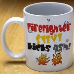More than simply a coffee mug, this Custom Printed Firefighter Coffee Mug makes a bold statement about your favorite firefighter. Why not give everyone in the fire house their own Personalized Firefighter Mug as a great thank you gift for a job well done.