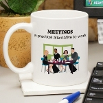 Does it seems as though there is always a meeting called? Bring some fun and humor to the workplace with our Have a Meeting Mug. Hate making decisions? Rather than talk about things than do things? WHY NOT HOLD A MEETING and enjoy benefits like Feel important Interact with others, Take notes, Delegate orders! Meetings are a practical alternative to work.