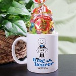 Our Personalized Ring Bearer Coffee Mug is Dishwasher safe and holds 11 oz. Includes FREE Personalization! Personalized your Ring Bearer Coffee Mug with any name.