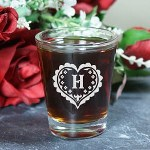 Decorate your wedding head table by giving everyone in your wedding party their own Personalized Heart Shot Glass. An attractive wedding keepsake perfect for your bridesmaids and groomsmen.