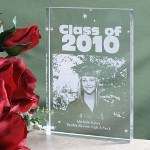 Engrave lasting memories of your new graduate with our Personalized Graduation Photo Keepsake. This unique and stunning, clear keepsake creates a spectacular graduation gift for Mom, Dad, Grandma and Grandpa to enjoy for years to come. This is one Personalized Graduation Gift which will be the envy of all who see it.