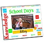 "Never forget the first day of school with our Custom Printed School Photo Frame. Our Custom Printed Frame measures 8""x10"" and holds a 3.5""x5"" or 4""x6"" photo. Easel back allows for desk display or ready for wall mount. Includes FREE Personalization! Personalize your School Photo Frame with any name."