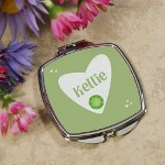 "Celebrate a special birthday and make someone feel beautiful with our keepsake mirror. A wonderful personalized gift that will fill your heart with love while it helps make sure your are looking your very best. Your Custom Printed Picture Compact Mirror measures 2.5"" x 3"". Includes FREE Personalization. Personalize with any birthstone month and name."