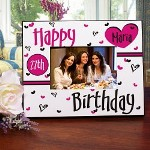 Our Happy Birthday Personalized Printed Frame is a great Personalized Birthday Gift for anybody you know. The Personalized Birthday Frame is a treasured first birthday keepsake sure to be enjoyed for many years.