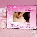 Celebrate the answer to your prayers from above with our Personalized My Little Angel Printed Frame. Our Personalized Little Angel Picture frame is great for showing your friends and family how you feel about your precious newborn daughter and lets her know later on how important she has always been to you.