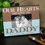 Dad is sure to love any opportunity to display a photo of himself and the kids in this handsome Personalized Our Hearts Belong to Daddy Picture Frame. Our Personalized Picture Frames for dad is perfect for Father's Day and is also suitable for other occasions such as birthdays, Christmas or just because. Show dad how much you love him today when you present this great Personalized Picture Frame for Him.