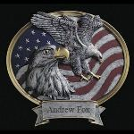 Personalization with our free engraving services make this an awesome tribute to any member of the military, a retired veteran, a police officer or a fireman, who has likewise demonstrated the eagles courage.