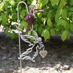 Place this memorial stake in your garden or at the grave site as a beautiful reminder of your loved one. Your lasting Personalized Memorial Angel Garden Stake is an inspiring memorial keepsake certain to bring loving thoughts and memories of your beloved.