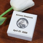 Personalized First Communion Keepsake Box - Engraved Rosary Case for First Communion Saying the Rosary & receiving First Communion is a beautiful event, to be cherished forever. Celebrate this joyous occasion by giving your child, grandchild, godchild their very own Personalized First Communion Keepsake Box.