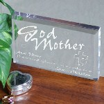 Your God Mother is a special person and has always been there for you, why not honor her with this classic personalized godparent's keepsake! Godmother Keepsake reads: Thanks for walking beside me to help and guide me.
