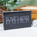 Your Fathers strength and compassion for his family are proudly displayed through this Personalized Fathers Day Marble Keepsake. He is sure to love this unique gift for Dad featuring your own personal message engraved on the back.