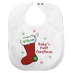 A Babys 1st Christmas is one to photograph, video tape and cherish for a lifetime. Our Babys 1st Christmas Bib will help keep your little darling clean throughout the day so they look great in every captured moment.