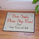 Personalized Santa Doormat - Personalized Christmas Door Mat No matter what, Santa will have your home first on his list when you place your Personalized Santa Doormat out for him to see from high above.