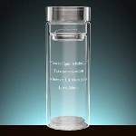 A must-have eco-friendly item for a special on-the-go person in your life! Personalize our gorgeous Glass Thermos with a unique message to create a one-of-a-kind gift, plus a strainer to put any of their favortite tea or drink in! Double walled for hot or cold beverages. Measures 8-1/8 � tall & 16 oz.