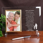 Celebrate a special occasion with your grandpa and present him with this keepsake frame. Personalize with your short message at the bottom of the frame. Great for a birthday, holiday or special occasion.