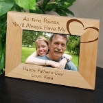 Send your dad a special gift for Fathers Day, a special birthday or Wedding day with our As Time Passes personalized frame for dad. Personalize with two lines at the bottom of the frame.