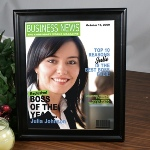 Bosses Day is October 16, 2011. Feature your boss as a star in their very own magazine cover. This personalized magazine cover can be used as a unique Bosses Day Gift, Birthday Gift or Holiday Gift.