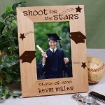 Proudly display a favorite graduation picture of your son or daughter in a Personalized Shoot For The Stars Engraved Graduation Frame. Our engraved Graduation Keepsake is sure to bring fond memories and proud moments.