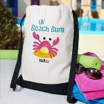 Summer is here and the number one vacation spot is the beach. Carry your towel, bathing suits, lotion and flip flops in your very own Beach Bum Personalized Sports Backpack. Our Custom Sports Backpack is fun, durable and great for keeping your important belongings all in one place. Choose from our many color options to make this custom carry-all bag right for you.