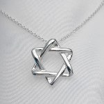 A beautiful and meaningful gift idea anytime of year. Sterling silver Star of David Pendant with sterling silver chain. Neck chain goes through a small attachment on the top backside of star. Please remember to choose a neck chain length.