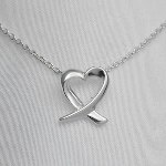 Our Sterling Silver Tiffany style heart necklace is a keepsake gift for any special person in your life. iffany style jewelry is not made from Tiffany. It is inspired by Tiffany and is similar in style. Same quality for much less!