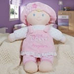 Give your precious little girl her very first dolly with our beautifully Embroidered My First Dolly. She is soft and safe for your baby girl to take with her everywhere she goes. Your little one is sure to love and enjoy playing with her new friend day and night. Perfect for afternoon naps as well.