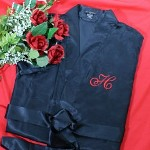 You will be looking hot for your man this Valentines Day when you break out this romantic and heart-stopping Embroidered Initial Satin Robe.