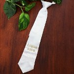 Complete your son or grandsons outfit with his very own Embroidered First Communion Tie. A handsome accessory for your fast growing boy. He will look dapper wearing his own Personalized Tie celebrating this milestone event.