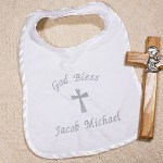 Complete your precious babys Christening outfit with a Personalized Baby Bib beautifully embroidered to celebrate this glorious event. This adorable baby keepsake makes for great memories years to come.