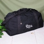 """A very important day for a ring bearer. Let him know just how important he is and how much you appreciate him. Outfit your precious ring bearer with his own wedding travel bag. Perfect for storing a few games, books and comfortable clothes for after the festivities are over. If you are planning an out of town wedding this Personalized Duffel Bag is perfect for your ring bearer to carry all of his clothes and keep them in one safe place. Your Personalized Ring Bearer Duffel Bag is 24 1/4"""" x 12 1/4"""" x 10 3/4"""" in a regal black polyester material. Each Embroidered Duffel Bag is water-resistant with black web handles, detachable shoulder strap and zippered pockets. Includes FREE Embroidery in white thread. Personalize your Ring Bearer Duffel Bag with any name ( ie. Ethan )"""