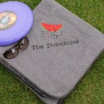 Enjoy the great outdoors and quality time with family all comfortably resting on your own Embroidered Picnic Blanket. This unique Embroidered Throw Blanket is an excellent family gift for family outings at the local park, beach or enjoying an evening of 4th of July fireworks. Your cute family blanket is soft and perfect for any outdoor event.