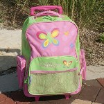 Your little girl will adore this brightly colored Embroidered Butterfly Travel Luggage. Perfect for any little butterfly lover who likes to stay organized through out the day. With wheels on the bottom, this Travel Bag is ideal for packing her supplies for school or weekend trips without having any strain on her back.