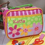 She is sure to be the envy of the classroom when she takes her Embroidered Flower Lunch Box to school. This bright and cute Lunch Box makes going to school extra fun as she helps mom pack her a healthy lunch.