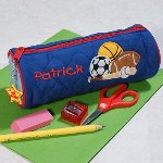 f your boy loves sports then he is sure to love his new Embroidered Sports Pencil Pouch. Its great for keeping pens and pencils organized and easily fits into any desk or backpack. The added touch of personalization will make him feel special since it was made just for him.