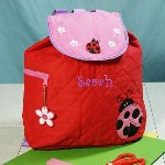 This super adorable quilted backpack is perfect for any toddler. Its great to carry all her belongings to the park, daycare, Grandmas or just to spend some time with Mom. Now she can bring her favorite toys and treats wherever she goes.