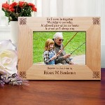 "Words alone can not express the true feelings one has when dealing with a loss of a loved one. The use of a treasured photograph can provide support during this most difficult time. Our Personalized Memorial Picture Frame provides the perfect backdrop to highlight your favorite photo. Our Personalized Memorial Wood Picture Frame measures 8 3/4"" x 6 3/4"" and holds a 3½"" x 5"" or 4"" x 6"" photo. Easel back allows for desk display. Includes FREE Personalization! Personalize your Memorial Picture Frame with any name."