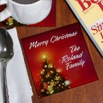 Festive cheer, glad tidings and fond memories are all part of the Christmas season. Celebrate with family & friends this Christmas and protect your furniture with your own set of Personalized Merry Christmas Coasters. A great way to add some color to any family Christmas party.