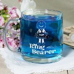 Provide your precious little flower girl and handsome ring bearer with her very own Personalized Glass Mug so they can celebrate with everyone else in the bridal party. A fun and cute Gift perfect for milk, soda, hot chocolate or favorite juice. Your Engraved Flower Girl or Ring Bearer Keepsake Mug holds 13 ounces and is a ARC Nordic, clear glass mug. Made in the U.S.A. Includes FREE Engraving. Personalize your Flower Girl Glass Mug with any name. ( ie. Kailey ) The flower girl name is engraved on the opposite side of the flower girl design.