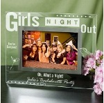 This beautifully Engraved Picture Frame makes a fabulous gift for a Girls Night Out. Present each one of your BFF's with this lovely Glass Frame to cherish fun memories of time spent together. This classy Girls Night Out Glass Frame makes a wonderful gift idea to thank your Maid of Honor and Bridesmaids for joining you on your special Day.
