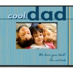 "What father doesnt want to know hes the coolest one on the block? Tell him this Fathers Day with our personalized Cool Dad photo frame. In shades of blue and yellow with bold lettering, this is the ideal frame for a favorite photo of the kids or a picture of the whole family. Great for home or office, the Cool Dad frame includes 2 lines of personalization. The frame measures 8"" x 10"" and holds a 4"" x 6"" picture."