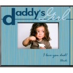 "Princess, baby, sweetheart….no matter what he calls her, hell love this charming personalized Daddys Girl photo frame, the perfect gift for Fathers Day. Fashioned in shades of blue with thin yellow stripes, this frame is the ideal border for that favorite photo of his precious daughter – whether shes 2 or 32! Includes 2 lines of personalization. Frame measures 8"" x 10"" and holds a 4"" x 6"" frame."