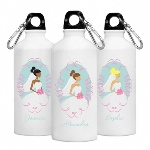 Keep the bride and her attendants hydrated with our cute and colorful personalized Goin' to the Chapel Water Bottle series. They make great bridesmaids gifts they'll use again and again. Complete with a sturdy cap and convenient clip, these personalized 20 ounce aluminum water bottles include a pretty image and name of the recipient written in script.