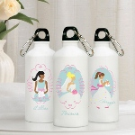 Keep the bride and her attendants hydrated with our cute and colorful personalized Goin' to the Chapel Water Bottle series. They make great bridesmaids gifts they'll use again and again. Complete with a sturdy cap and convenient clip, these personalized 20 ounce aluminum water bottles include a pretty image and name of the recipient written in script. Choose bride, bridesmaid, or flower girl as well as hair color.