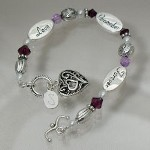 Remember the loss of a loved one with our keepsake bracelet gift idea.