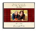 "Say it with a poem! Choose from four verses that tell Dad how much you care on his special day. This handsome personalized frame boasts a unique plaid and parchment colored background with plenty of room for a two-line personal message, written just for him. Perfect for Dads of any age and ideal for his desk or bedside table. Frame measures 8"" x 10"" and holds a 4"" x 6"" picture. Two lines of personalization of up to 25 characters per line."