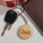The words - simple, thoughtful and unique all come to mind when you give this Personalized Name Key Chain as a birthday, graduation, bridal party or retirement gift. Our Personalized Maple Wood Keychain looks great and makes an affordable gift for those who have everything. The perfect personalized accessory for a new car owner or someone who just moving into a new home.