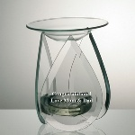 Turn this unique gift into a keepsake and memorable gift idea for a special occasion, holiday or celebration. Customize your gifting experience by adding a message, name or date, up to two lines of text, which can be etched into the front of the oil burner. Oil fragrance and tealight candle not included. Gift ideas: graduation, new home gift, congratulations, corporate, memorial/sympathy, bosses day gifts, anniversary gifts, retirement, bridal party gift, special birthday...