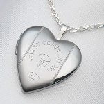 This 20mm Sterling Silver Heart First Communion is 3/4 inch and can be engraved on back with a special message. Celebrate a special communion with a keepsake gift idea. Front half shiny - half matte.