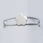 This Sterling Silver Flower Cuff Bracelet is so adorable for a sweet little flower girl. Engrave flower with one or three initials.