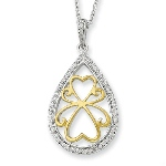 A gentle reminder that love carries on. May it help give strength and comfort during a time of comfort. Sterling Silver & Gold-plated Love Carries On 18in Necklace